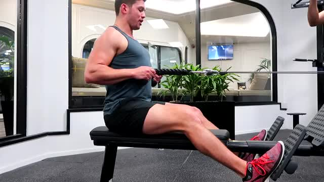 Seated Row Using Rope demonstration
