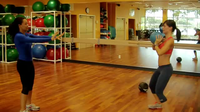 Medicine Ball Chest Throw (with partner) demonstration
