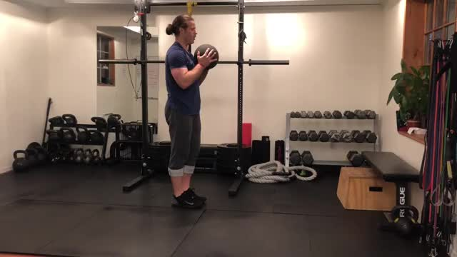 Single Leg Romanian Deadlift with Medicine Ball demonstration