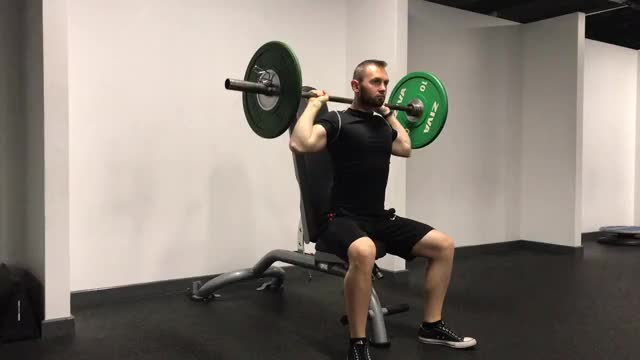 Close Grip Press Behind Neck demonstration