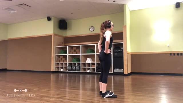 Female Floor Calf Raise demonstration