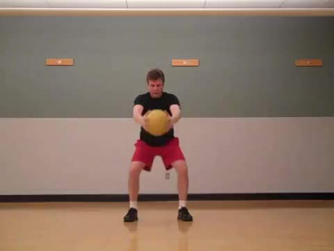 Male Medicine Ball Overhead Chop demonstration