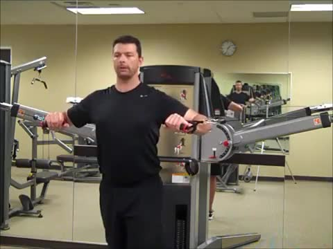 Standing Cable Chest Press demonstration