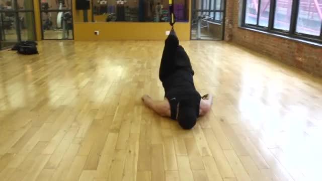 TRX Single Leg Curl demonstration