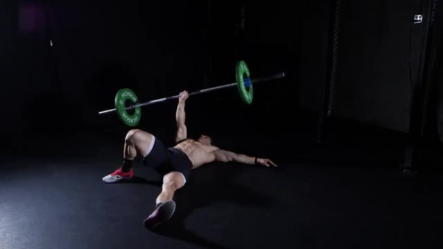 Barbell Turkish Get-up demonstration