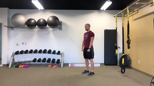 Bodyweight Romanian Deadlift demonstration