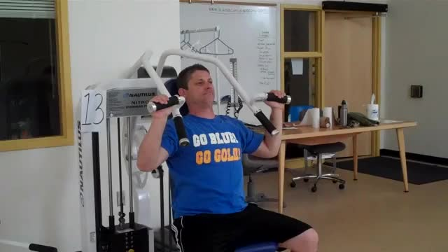 Sled Shoulder Press demonstration