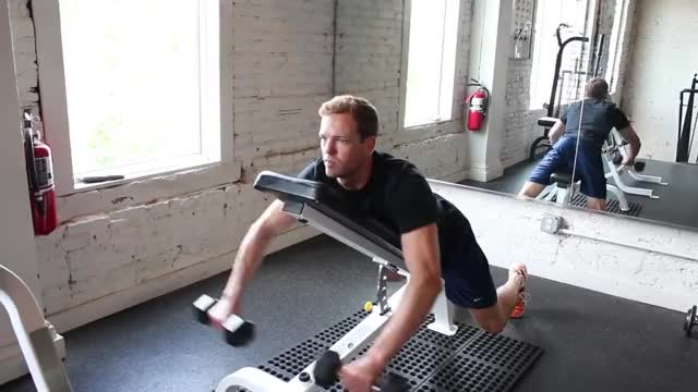 Lying Dumbbell Front Raise On Incline Bench demonstration