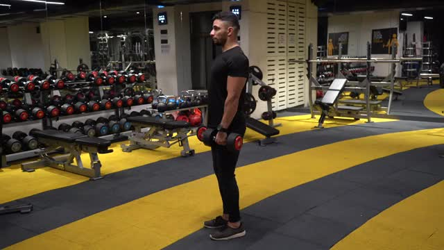 Stiff-Legged Dumbbell Deadlift demonstration