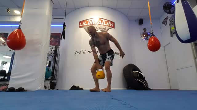 One-Arm Kettlebell Swing demonstration