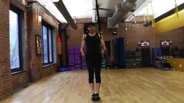 TRX Triceps Pressdown demonstration