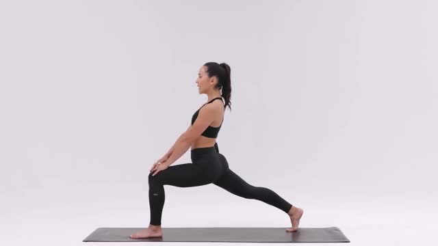 Crescent Pose demonstration