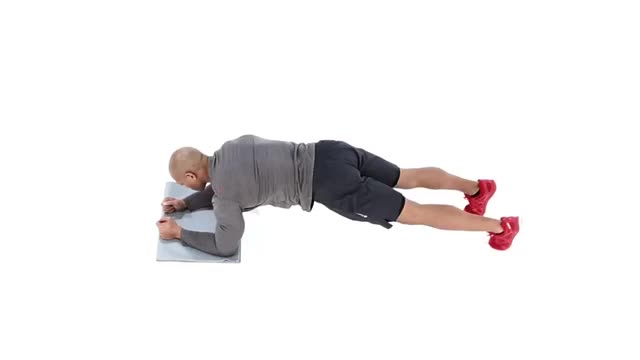 Wide-Stance Plank with Opposite Arm and Leg Lift demonstration