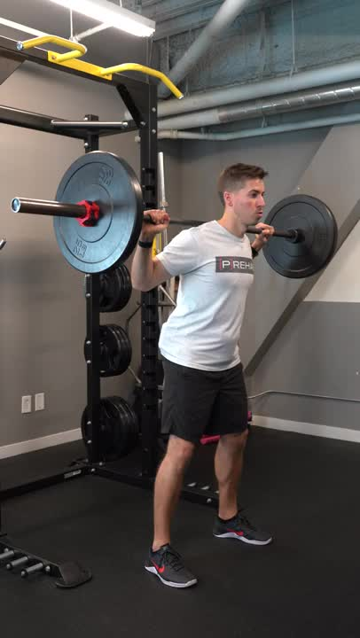Barbell Good-morning demonstration