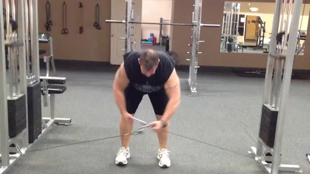 Male Cable Rear Lateral Raise demonstration
