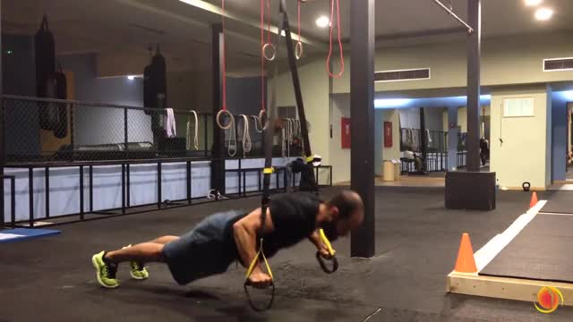 Suspension Push-up demonstration