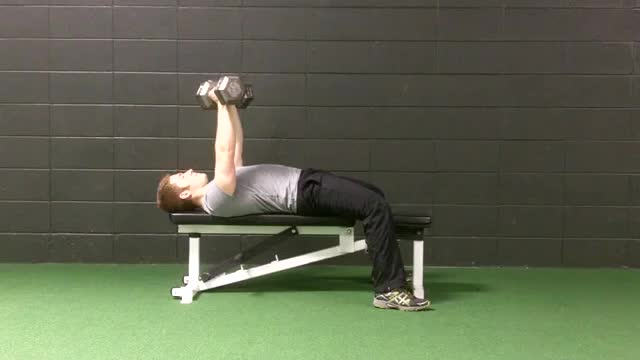 Dumbbell Bench Press demonstration