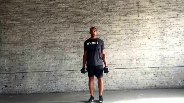 Dumbbell Side Lunge demonstration