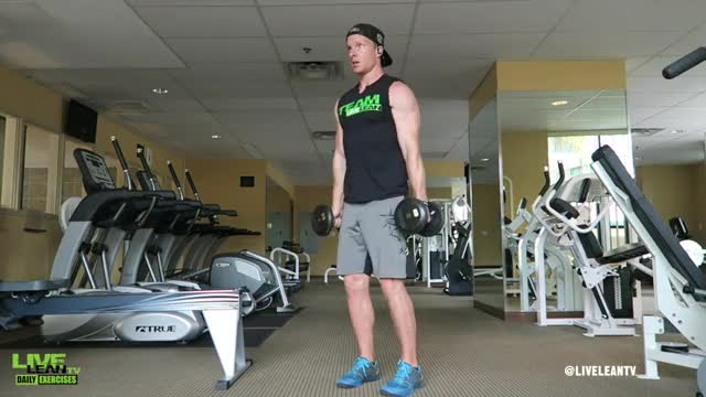 Male Palms In Dumbbell Front Raise demonstration