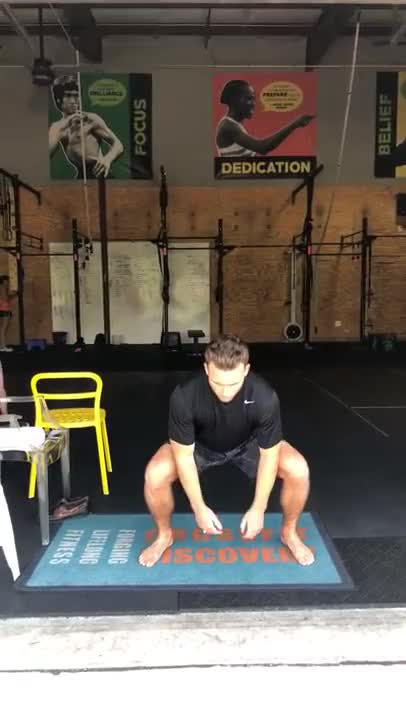 Sumo Squat with Rotation demonstration