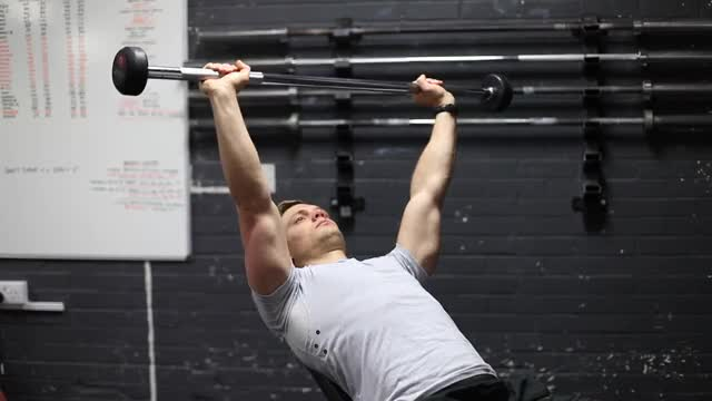 Barbell Incline Shoulder Raise demonstration
