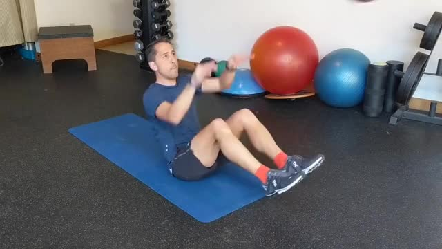 V-Sit Lying Down Ball Throw And Catch demonstration