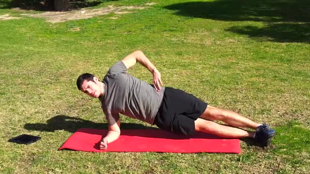 Male Side Plank with Torso Rotation demonstration