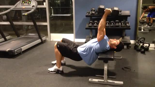 Straight-Arm Dumbbell Pullover demonstration