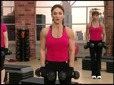 Female Standing Dumbbell Reverse Curl demonstration