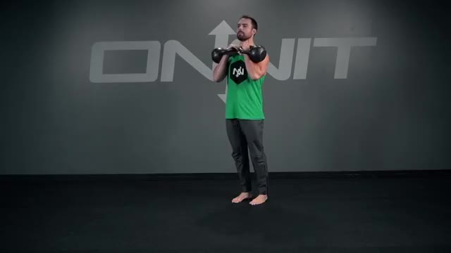Double Kettlebell Forward Lunge demonstration