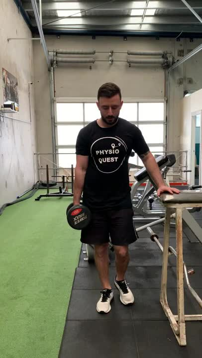 Weighted Single Leg Calf Raise demonstration