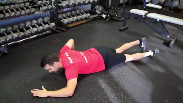 Male Floor Chest Stretch demonstration