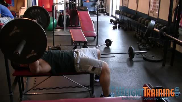 Triple-Stop Barbell Bench Press demonstration