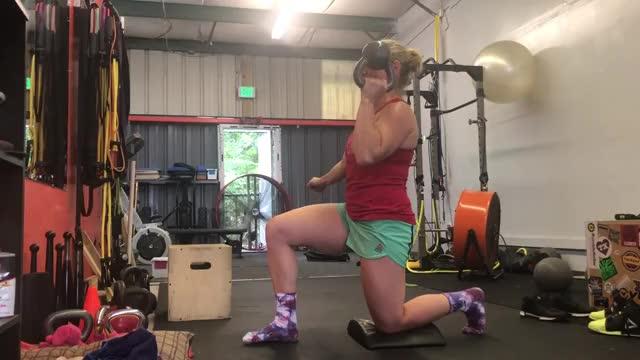 Female Bottoms Up Half Kneeling Kettlebell Press demonstration