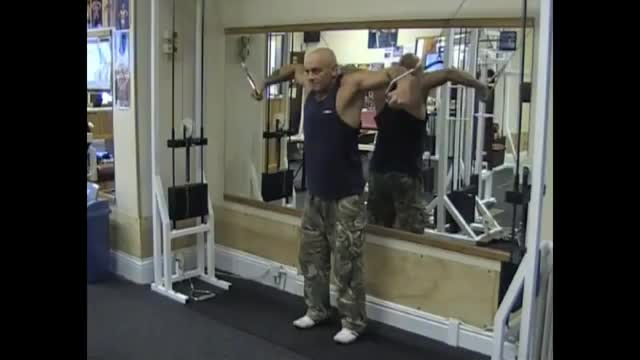 Male Cable Inner Chest Press demonstration