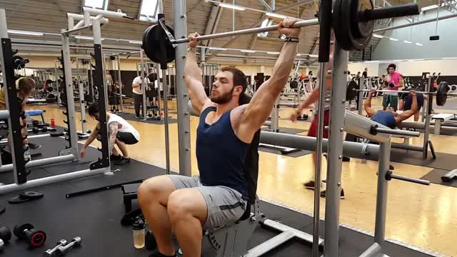 Smith Behind Neck Press demonstration