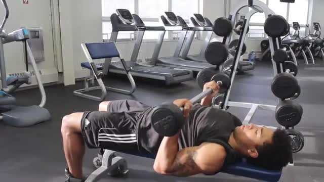 Reverse Triceps Bench Press demonstration