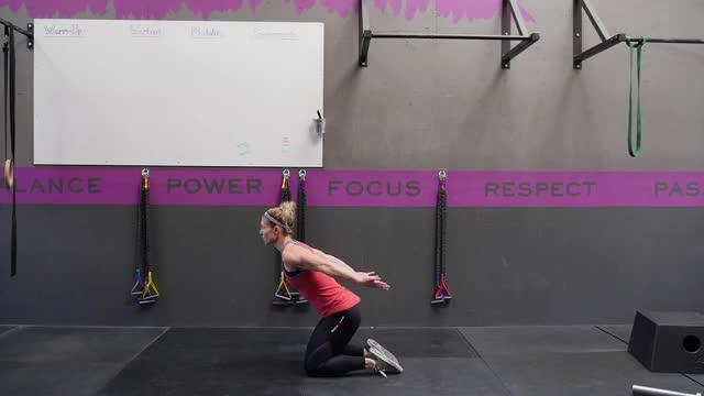 Female Kneeling Squat Jump demonstration