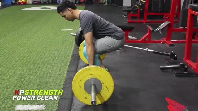 Power Clean demonstration