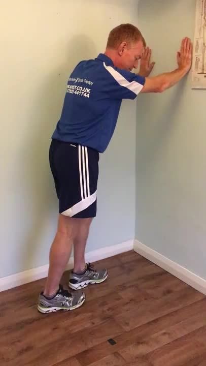 Bent-Leg Calf Stretch demonstration