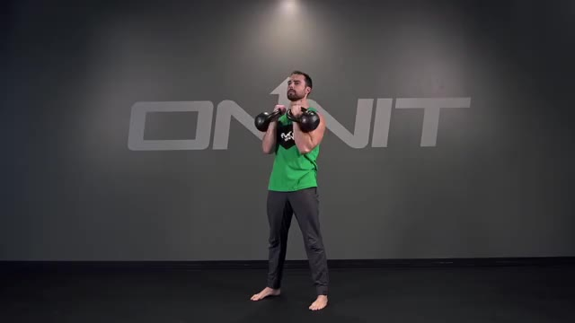Double Kettlebell Overhead Press demonstration