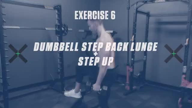 Dumbbell Step Back Lunge to Step Up demonstration