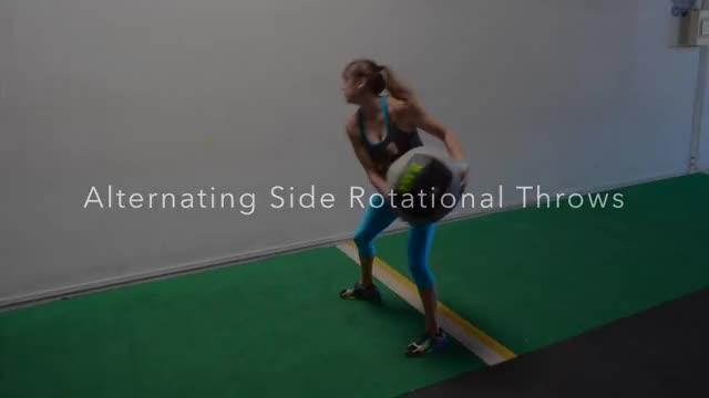 Female Medicine Ball Side Throw demonstration