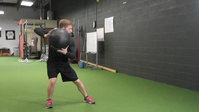 Medicine Ball Side Throw demonstration