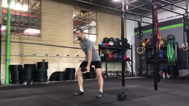 Dumbbell Hang Muscle Snatch demonstration