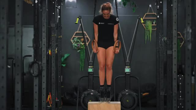 Female Self-assisted Chest Dip demonstration