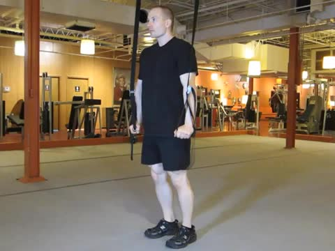 Self-assisted Chest Dip demonstration