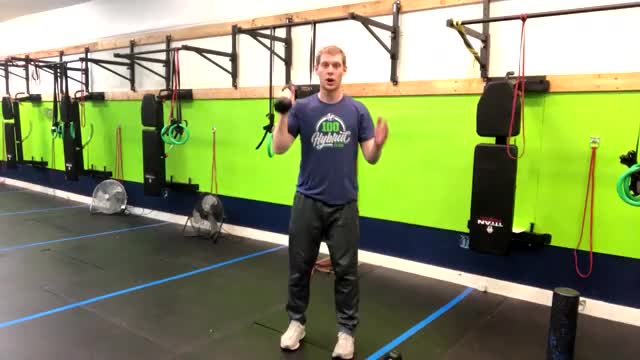 Standing Palm-In One-Arm Dumbbell Press demonstration
