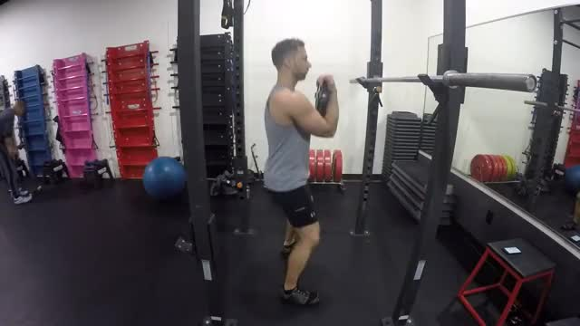 Weighted Front Squat demonstration