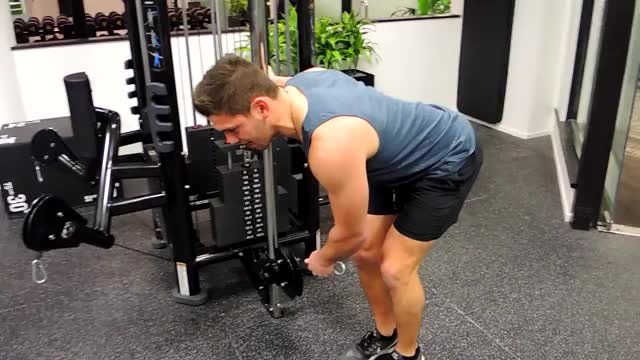 Bent Over Low-Pulley Side Lateral demonstration